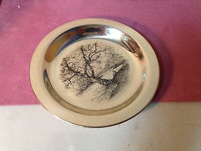 1972 FRANKLIN MINT *STERLING SILVER DISH PLATE* JAMES WYETH Along the Brandywine