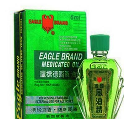 2 x  1 Bottles - EAGLE BRAND MEDICATED OIL RELIEF FOR PAIN ACHES AND STRAINS