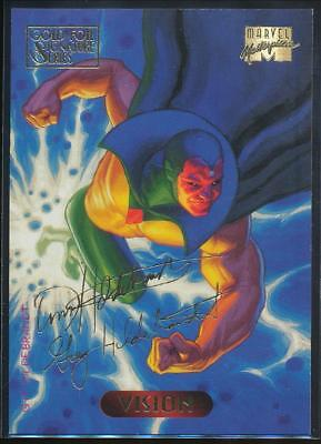 1994 Marvel Masterpieces Gold Signature Trading Card #132 Vision