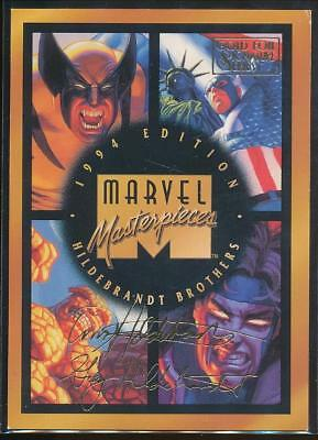 1994 Marvel Masterpieces Gold Signature Trading Card #140 Checklist