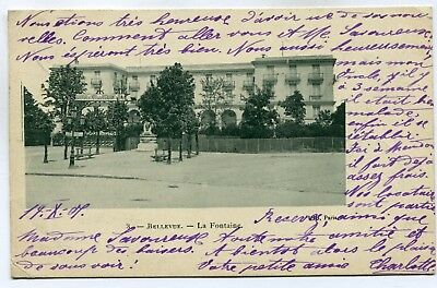CPA - Carte Postale - France - Bellevue - La Fontaine - 1901 (SV6202)