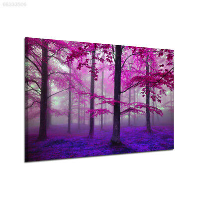 78C6 Natural Purple Forest Canvas Print Oil Painting Paint Wall Picture 30x45CM