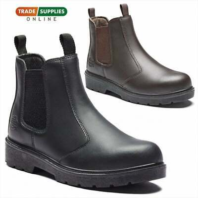 Dickies Super Dealer Boots Chelsea Leather Steel Toe Sizes 7-11 Fa23345
