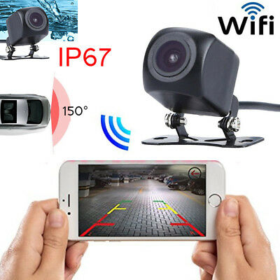 150° WIFI Car Rear View Camera Backup Reverse Wireless For iPhone Android ios