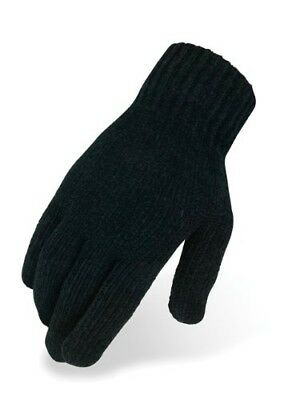 (Size 8, Black) - Heritage Chenille Knit Glove. Delivery is Free