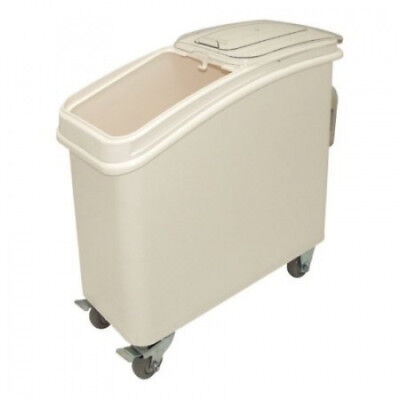Vogue Ingredient Bin with Scoop - Colour: White. Capacity: 102 litres.