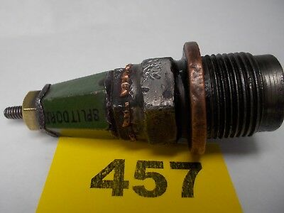 "Vintage SPLITDORF Green Jacket 2-16 Spark Plug Threads 22 mm Hex 7/8"" (457)"