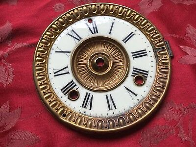 Ansonia  Mantel Clock Enamel Dial And Bezel No Glass
