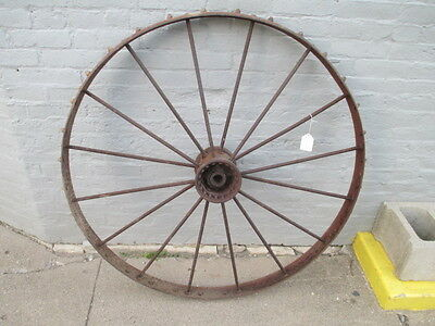 John Deere New Idea Hay Rake Tractor wheel Antique steel spoke rim