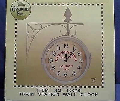 Antique Reproduction KENSINGTON Two Sided Train Station Wall Clock