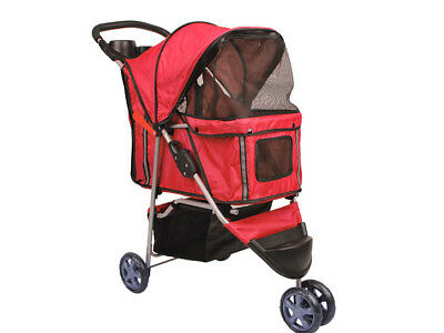 Tier-Buggy Mit 3 Rädern Hundebuggy, Farbe Rot