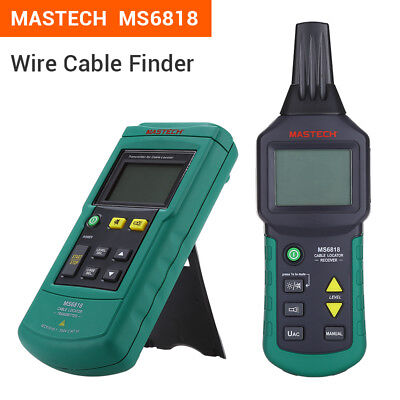 MASTECH MS6818 12V-400V AC DC Wire Cable Tracker Metal Pipe Locator Detector Tes