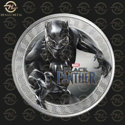 King of African Wakanda TChalla Marvel Black Panther 1 oz Silver Plated Coin