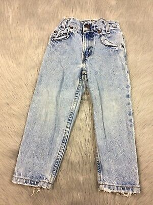 Vintage Little Levis Toddler 4 Slim Relaxed Fit Light Wash Heavily Distressed
