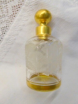 19Th Century Antique French Acid Etched Perfume Bottle & Stopper