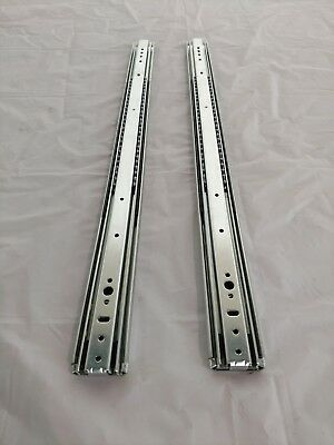 "Pair 30"" Full Extension 250 LB Capacity Drawer Slides Steel Roller Bearings"