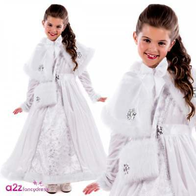 Girls Royal Ball Gown Isabella Costume Christmas Princess Childs Fancy Dress