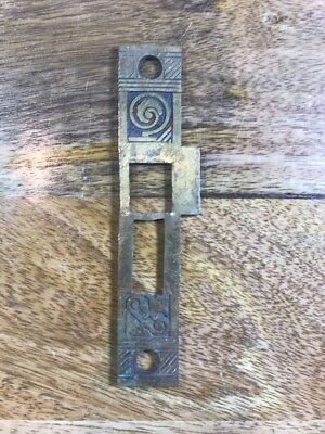 Antique Strike Plate Nashua NH Pattern Hardware - Make Me An Offer!