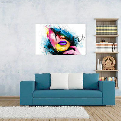 7B40 Modern Abstract Canvas Wall Art Painted Oil Painting Woman Face No Frame