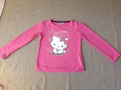 97b1fa245b551 T-SHIRT FILLE ROSE hello kitty taille 4 ans - EUR 1