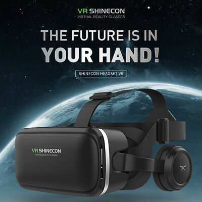 3D Virtual Reality Video Movie Game Glasses VR Headset for Android IOS Samsung
