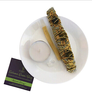 New Sage Smudge Stick Kit with Sunflower Cleansing Purification, Healing, Wicca