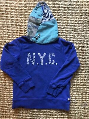 Scotch & Shrunk  Soda Hoody Kapuzenpullulli blau/ cord/ Muster Gr.10 /140 TOP