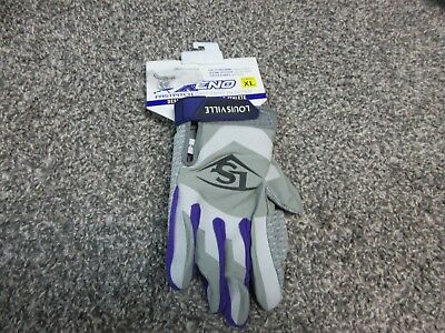 New Women's Louisville Slugger Xeno Batting Gloves Size XL BGXN16F Fastpitch