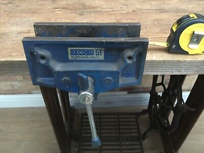"""Record  no 51 Woodwork Bench Vice 6"""" Inch width Jaws"""