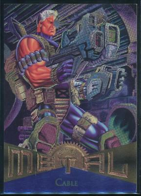 1995 Marvel Metal Trading Card #88 Cable