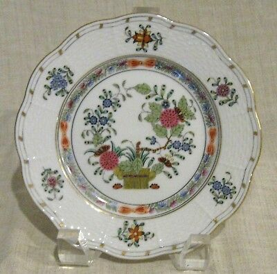 Herend Indian Basket Multicolor Bread Plate # 515