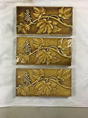 3 Tiles Available - Antique Collectible C. Pardee Works Tile Perth Amboy NJ