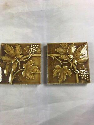 2 Tiles Available - Antique Collectible C. Pardee Works Tile Perth Amboy NJ