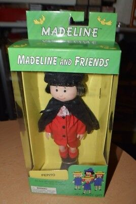"""MADELINE AND FRIENDS PEPITO 8"""" VINYL POSABLE BOY DOLL EDEN New In Box 1998"""