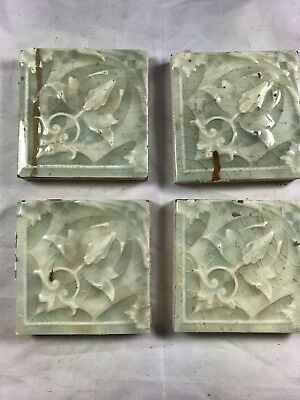 "4 Tiles Available - Antique C. Pardee Works Tile Perth Amboy NJ 3""x3"""