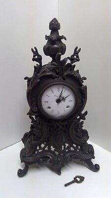Imperial Bronze Mantel Clock Made in Italy Franz Hermle 18""