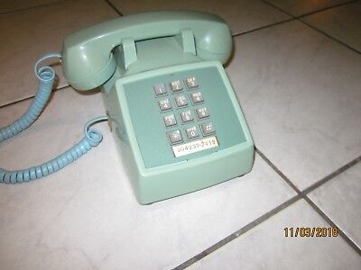 Vintage Western Electric Touch Tone Phone Aqua