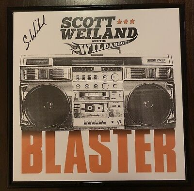 Scott Weiland And The Wildabouts Blaster Record Signed Autograph Framed