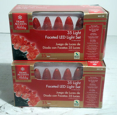 Home Accents Holiday 35 Led C6 Christmas Lights 11 Ft 4 White 176