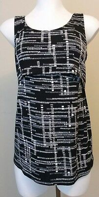 NWT a:glow Black and White Nursing Tank Top Size Small