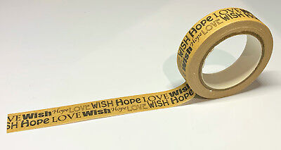 Love Wish Hope 1.5cm x 15m Sticky Washi Tape DIY Scrapbook