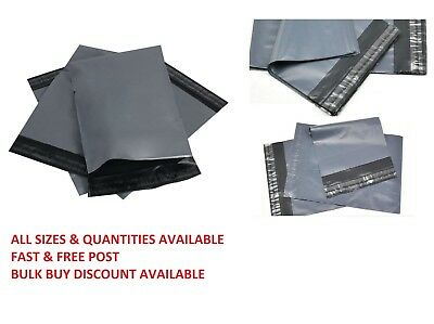 Strong Grey Mailing Bags Poly Post Mail Postal Self Seal Bags Plastic Envelopes