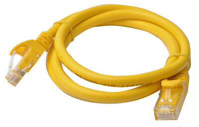 8Ware Cat 6a UTP Ethernet Cable, Snagless  - 1m (100cm) Yellow