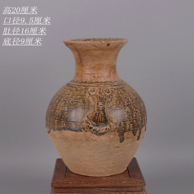Chinese ancient antique hand make  Celadon two series vase