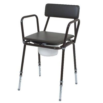 Dovedale Adjustable Height Commode with Detachable Arms (Eligible for VAT relief