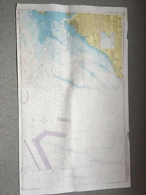Vintage Orford Ness To The Naze Marine Sea Chart Nautical Map