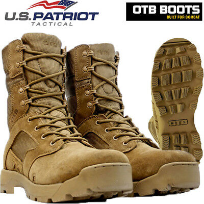 Mens  Leather Army Military Combat Boots Tactical Police Patrol Work Boots Sizes