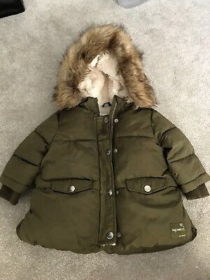 4f52eead1 ZARA BABY GIRL winter Coat 9-12 Months - £5.00