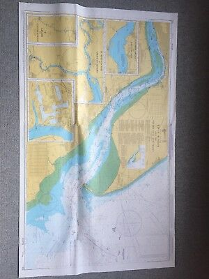 Vintage River Humber & Rivers Ouse & Trent Marine Sea Chart Nautical Map