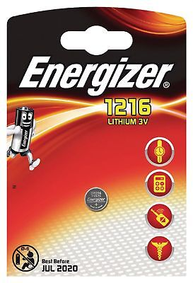 1 x Energizer 1216 CR1216 3V Lithium Coin Cell Battery DL1216 KCR1216, BR1216